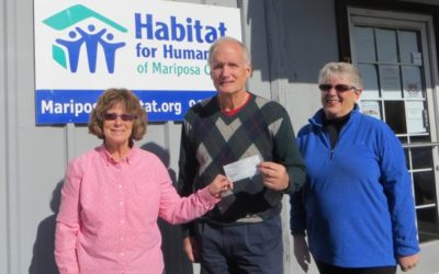 Soroptimist International of Mariposa Donates to HFH of MC