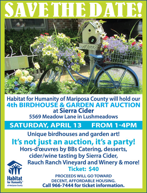April 13th – Birdhouse & Garden Art Auction
